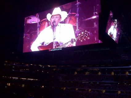 George Strait on the World's Biggest HDTV at Cowboys Stadium in Arlington, TX