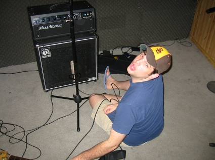 Jordan Richardson in the studio with Darth Vato (2003)