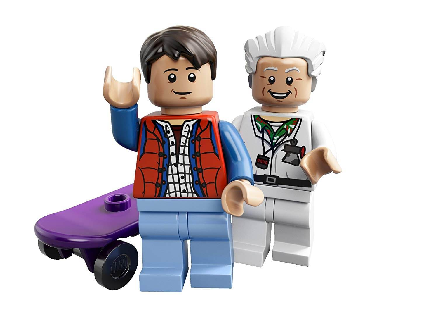 LEGO Marty McFly & Doc Brown from 'Back to the Future'