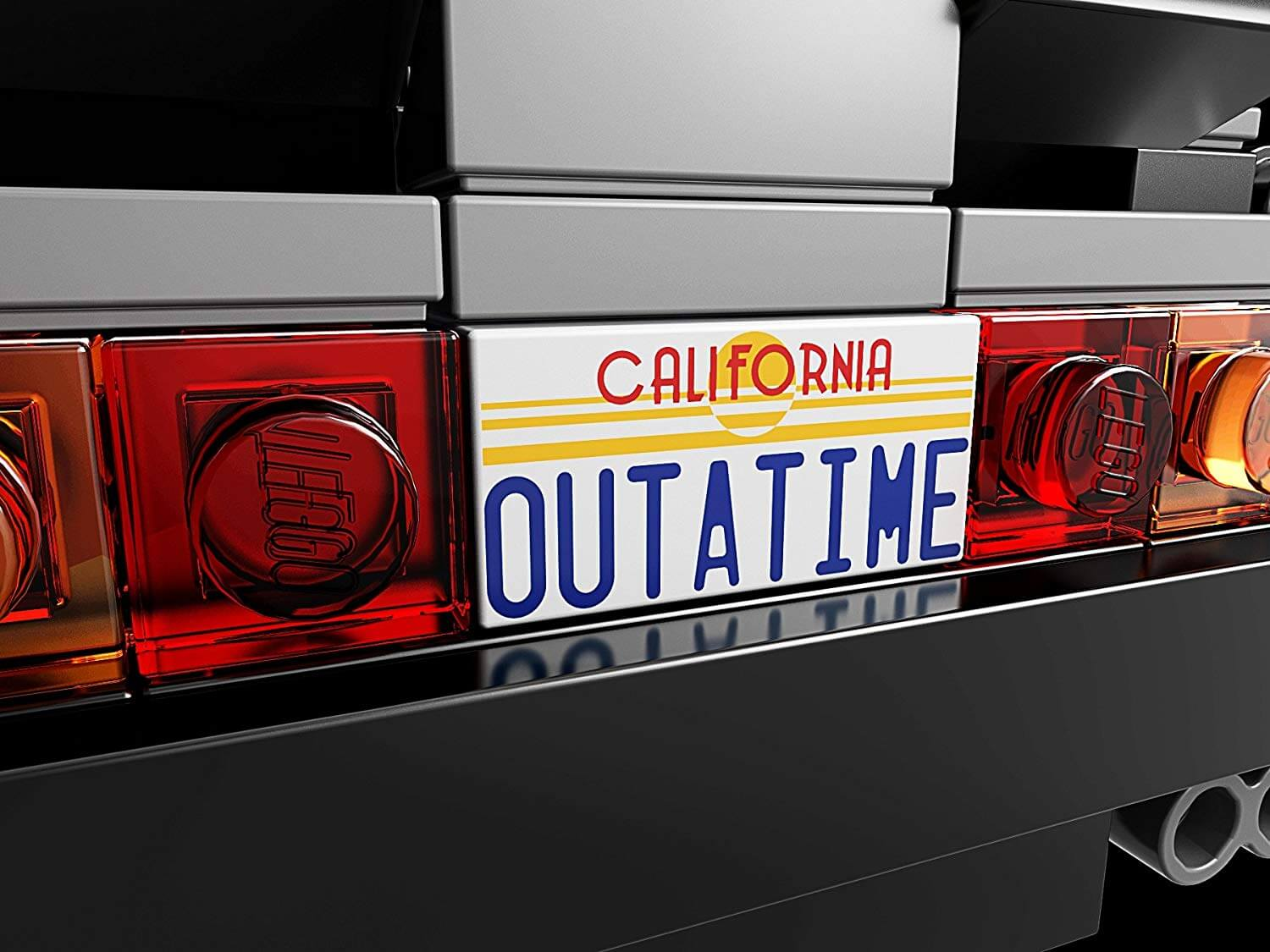 LEGO Outatime License Plate from 'Back to the Future'