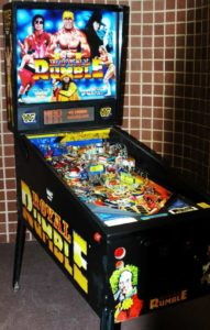 WWF Royal Rumble Pinball Machine #WANT!